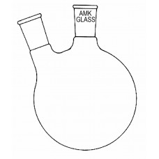 Round Bottom Flask, 2 Neck, Angled Joint